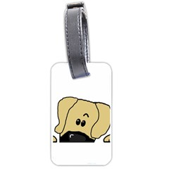Peeping Fawn Great Dane With Undocked Ears Luggage Tags (One Side)