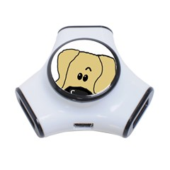 Peeping Fawn Great Dane With Undocked Ears 3-Port USB Hub
