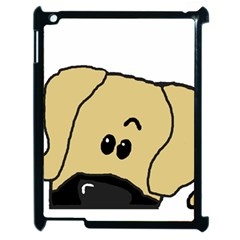 Peeping Fawn Great Dane With Undocked Ears Apple iPad 2 Case (Black)