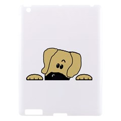 Peeping Fawn Great Dane With Undocked Ears Apple iPad 3/4 Hardshell Case