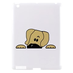 Peeping Fawn Great Dane With Undocked Ears Apple iPad 3/4 Hardshell Case (Compatible with Smart Cover)