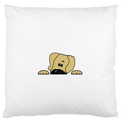 Peeping Fawn Great Dane With Undocked Ears Large Cushion Cases (Two Sides)