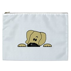 Peeping Fawn Great Dane With Undocked Ears Cosmetic Bag (XXL)