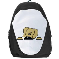 Peeping Fawn Great Dane With Undocked Ears Backpack Bag