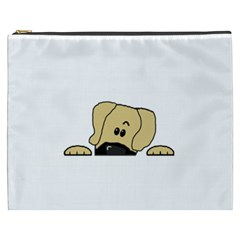 Peeping Fawn Great Dane With Undocked Ears Cosmetic Bag (XXXL)