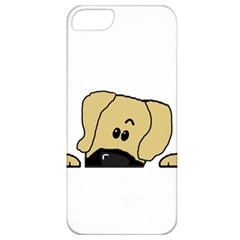 Peeping Fawn Great Dane With Undocked Ears Apple iPhone 5 Classic Hardshell Case