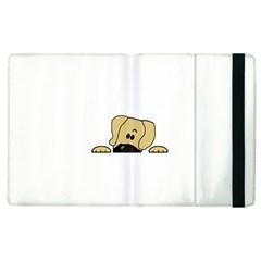 Peeping Fawn Great Dane With Undocked Ears Apple iPad 2 Flip Case