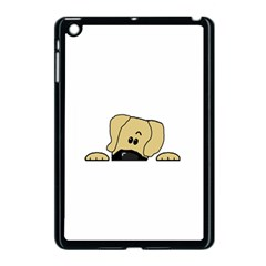 Peeping Fawn Great Dane With Undocked Ears Apple iPad Mini Case (Black)