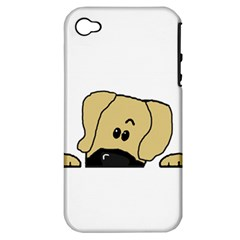 Peeping Fawn Great Dane With Undocked Ears Apple iPhone 4/4S Hardshell Case (PC+Silicone)
