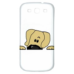 Peeping Fawn Great Dane With Undocked Ears Samsung Galaxy S3 S III Classic Hardshell Back Case