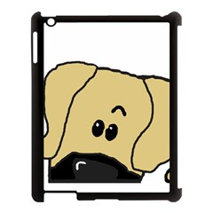 Peeping Fawn Great Dane With Undocked Ears Apple iPad 3/4 Case (Black)