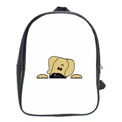 Peeping Fawn Great Dane With Undocked Ears School Bags (XL)