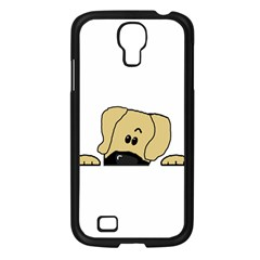 Peeping Fawn Great Dane With Undocked Ears Samsung Galaxy S4 I9500/ I9505 Case (Black)