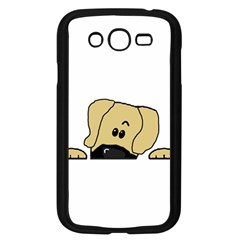 Peeping Fawn Great Dane With Undocked Ears Samsung Galaxy Grand DUOS I9082 Case (Black)
