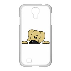 Peeping Fawn Great Dane With Undocked Ears Samsung GALAXY S4 I9500/ I9505 Case (White)