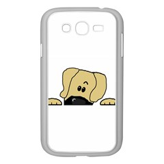 Peeping Fawn Great Dane With Undocked Ears Samsung Galaxy Grand DUOS I9082 Case (White)