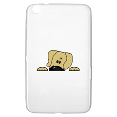 Peeping Fawn Great Dane With Undocked Ears Samsung Galaxy Tab 3 (8 ) T3100 Hardshell Case