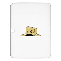 Peeping Fawn Great Dane With Undocked Ears Samsung Galaxy Tab 3 (10.1 ) P5200 Hardshell Case