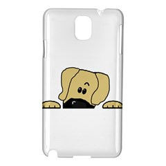 Peeping Fawn Great Dane With Undocked Ears Samsung Galaxy Note 3 N9005 Hardshell Case