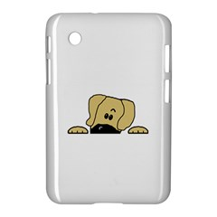 Peeping Fawn Great Dane With Undocked Ears Samsung Galaxy Tab 2 (7 ) P3100 Hardshell Case