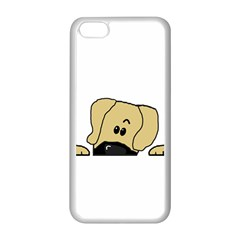 Peeping Fawn Great Dane With Undocked Ears Apple iPhone 5C Seamless Case (White)