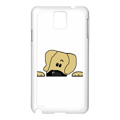 Peeping Fawn Great Dane With Undocked Ears Samsung Galaxy Note 3 N9005 Case (White)
