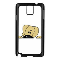 Peeping Fawn Great Dane With Undocked Ears Samsung Galaxy Note 3 N9005 Case (Black)