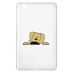 Peeping Fawn Great Dane With Undocked Ears Samsung Galaxy Tab Pro 8.4 Hardshell Case