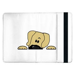 Peeping Fawn Great Dane With Undocked Ears Samsung Galaxy Tab Pro 12.2  Flip Case