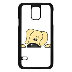 Peeping Fawn Great Dane With Undocked Ears Samsung Galaxy S5 Case (Black)