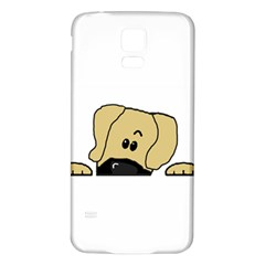 Peeping Fawn Great Dane With Undocked Ears Samsung Galaxy S5 Back Case (White)