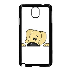 Peeping Fawn Great Dane With Undocked Ears Samsung Galaxy Note 3 Neo Hardshell Case (Black)