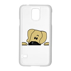 Peeping Fawn Great Dane With Undocked Ears Samsung Galaxy S5 Case (White)