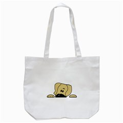 Peeping Fawn Great Dane With Undocked Ears Tote Bag (White)