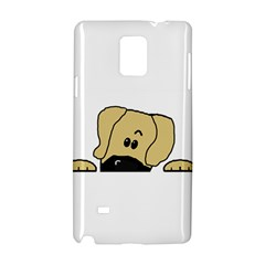 Peeping Fawn Great Dane With Undocked Ears Samsung Galaxy Note 4 Hardshell Case