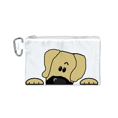 Peeping Fawn Great Dane With Undocked Ears Canvas Cosmetic Bag (S)