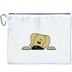 Peeping Fawn Great Dane With Undocked Ears Canvas Cosmetic Bag (XXXL)