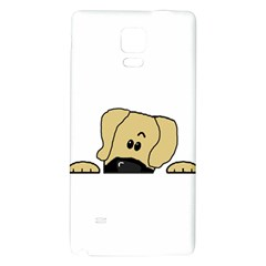 Peeping Fawn Great Dane With Undocked Ears Galaxy Note 4 Back Case