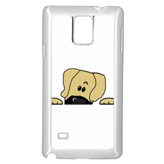 Peeping Fawn Great Dane With Undocked Ears Samsung Galaxy Note 4 Case (White)