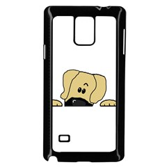 Peeping Fawn Great Dane With Undocked Ears Samsung Galaxy Note 4 Case (Black)