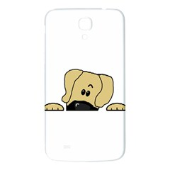 Peeping Fawn Great Dane With Undocked Ears Samsung Galaxy Mega I9200 Hardshell Back Case