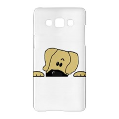 Peeping Fawn Great Dane With Undocked Ears Samsung Galaxy A5 Hardshell Case
