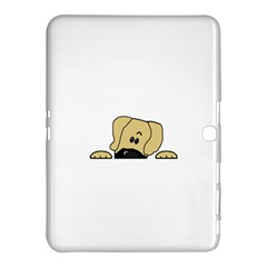 Peeping Fawn Great Dane With Undocked Ears Samsung Galaxy Tab 4 (10.1 ) Hardshell Case