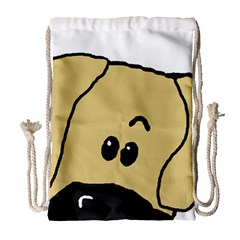 Peeping Fawn Great Dane With Undocked Ears Drawstring Bag (Large)