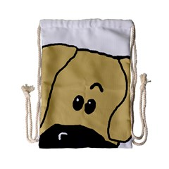 Peeping Fawn Great Dane With Undocked Ears Drawstring Bag (Small)