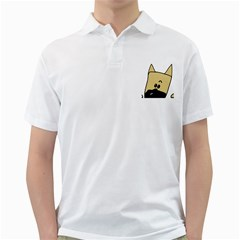 Peeping Fawn Great Dane With Docked Ears Golf Shirts