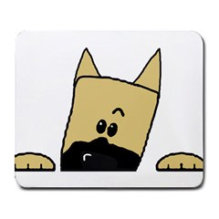 Peeping Fawn Great Dane With Docked Ears Large Mousepads