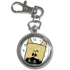 Peeping Fawn Great Dane With Docked Ears Key Chain Watches