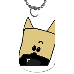 Peeping Fawn Great Dane With Docked Ears Dog Tag (One Side)