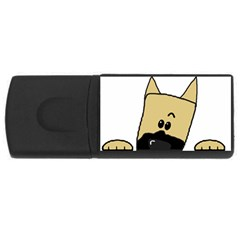 Peeping Fawn Great Dane With Docked Ears USB Flash Drive Rectangular (1 GB)